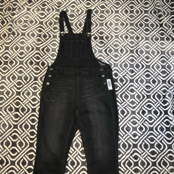 558962b9e9d1 Straight Black-Wash Denim Overalls for Women